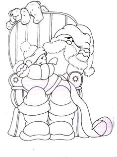Adorable Santa with child's wish list Colouring Pics, Coloring Pages To Print, Coloring Book Pages, Christmas Images, Christmas Colors, Christmas Crafts, Santa Christmas, Illustration Noel, Illustrations