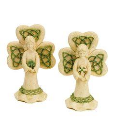 Another great find on #zulily! Irish Angel Figurine Set by Roman #zulilyfinds