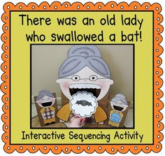 """Bring this Halloween book to life with this interactive sequencing activity. The students will love feeding the """"old lady"""" as you read the book! $3.55"""