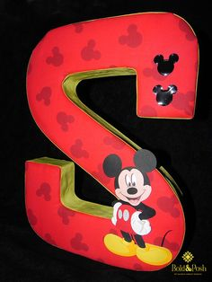 This adorable Mickey Mouse Fabric Covered letter is a perfect gift for any Mickey Mouse lover. Great for a kids room or a Mickey Mouse themed party. Available at my etsy shop. www.etsy.com/shop/BoldandPosh?ref=si_shop