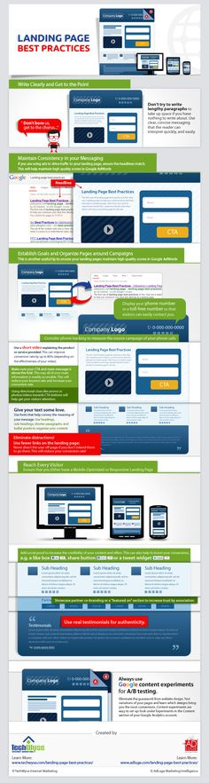 Landing Page Best Practices: How to Design the Perfect Landing Page #infographic #websiteconversion #conversion