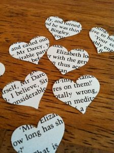 book pages confetti ..perfect idea for after the ceremony instead of using bubbles or whatever.