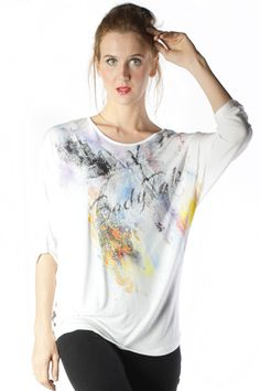 BUTTERFLY 2 OFFWHITE LONG SLEEVES TEE $ 18.94 discount 20% $ 15.15. Only on www.bodytalk.co.id  #ladies #woman #fashion #tees #bodytalk