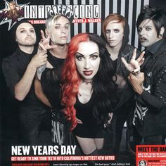 New Years Day on the cover of Kerrang!