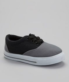 Take a look at this Gray & Black Lace-Up Sneaker by Ositos Shoes on #zulily today!