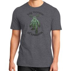 Bog Monster of Louisiana District T-Shirt (on man)