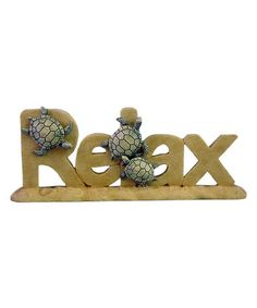 Another great find on #zulily! 'Relax' Word Art & Turtles Decor by Chesapeake Bay #zulilyfinds