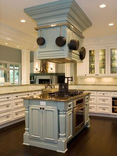 Kitchen Island Stove large island range hood design, pictures, remodel, decor and ideas