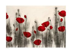 I have this over my bed. LOVE it! Started my poppy obseesion!  (Red Poppies by Hans Andkjaer or Henrik Simonsen the pic comes up when you google both. mine says Henrik. hmm....)