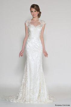 eugenia couture bridal spring 2016 candice cap sleeve wedding dress