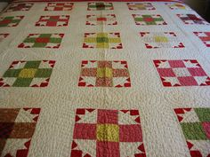 Beautiful Antique Hand Stitched Quilt Nine Patch Variation | eBay, bgrboots