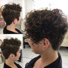Too short on top and too buzzed. Want to be able to straighten the top and add w… – Uñas Coffing Maquillaje Peinados Tutoriales de cabello Short Curly Hairstyles For Women, Haircuts For Curly Hair, Short Hair With Bangs, Curly Hair Cuts, Hairstyles Haircuts, Short Hair Cuts, Curly Hair Styles, Short Curls, Really Short Hair