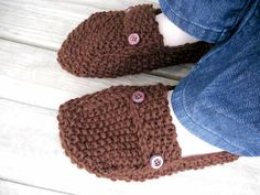 His or Hers Knitted Slippers / Unisex slippers / by JANAHknits, $25.00