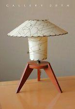 MID CENTURY MODERN FIBERGLASS TRIPOD LAMP! Atomic 50's Vtg Knoll Wood Eames 60's