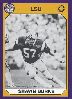 """1990 Collegiate Collection LSU <a class=""""pintag searchlink"""" data-query=""""%2396"""" data-type=""""hashtag"""" href=""""/search/?q=%2396&rs=hashtag"""" rel=""""nofollow"""" title=""""#96 search Pinterest"""">#96</a> Shawn Burks Front"""