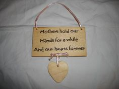 Hand crafted wooden mothers day gift pyrography plaque £6.00