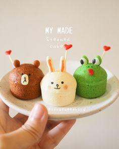 Linefriend cupcakes