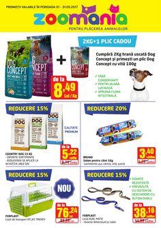 Catalog Zoomania Petshop Oferte 01 - 31 Mai 2017! Oferte si recomandari: Ferplast lesa Dual matic 38,16 lei; Bruno salam pentru caini Doge, Pet Shop, Animales, Zootopia, Pet Store