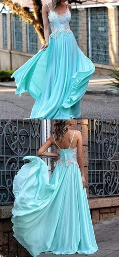 A-line spaghetti straps prom dress floor length blue lace prom dress evening dresses, - Renee Marino Prom Dresses Blue Lace Prom Dress, Straps Prom Dresses, Long Prom Gowns, Beaded Prom Dress, Prom Dresses Blue, Evening Dresses, Party Dresses, Dress Long, Chiffon Dress