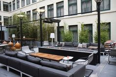 Dirty Habit: Hidden on the fifth floor of the Hotel Zelos, Dirty Habit's inviting patio and chic, dim interior house a stellar spirits collection—which includes nearly 500 whiskies.