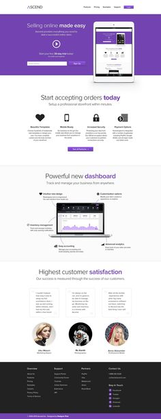 Ascend – Free eCommerce Service Template
