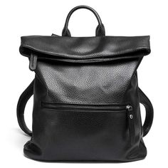 Folding Leather Backpacks Women School Bags Large Capacity Fashion Korean Style Bolsa Deformable Crossbady Bag Dual Use Mochila