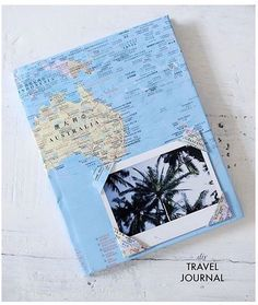 Such a cute idea for inside a travel journal!