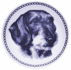Dachshund - Wirehaired Lekven Design Dog Plate 19.5 cm /7.61 inches Made in Denmark NEW with certificate of origin PLATE -7512 * Check out the image by visiting the link. (This is an affiliate link and I receive a commission for the sales)