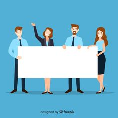 People holding blank banner Free Vector Background For Powerpoint Presentation, Background Powerpoint, Design Plat, Blank Banner, Family Vector, Powerpoint Design Templates, Flat Design Illustration, Cartoon People, Cartoon Styles