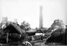 The round tower at Kildare town,Ireland in 1861.