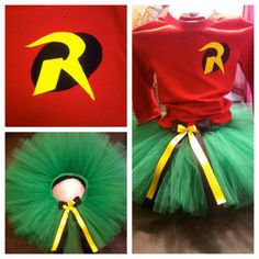 Adult Robin Tutu Set (other super heros too! Halloween 2016, Halloween Outfits, Holidays Halloween, Halloween Party, Halloween Costumes, Halloween Ideas, Rave Costumes, Running Costumes, Holiday Crafts