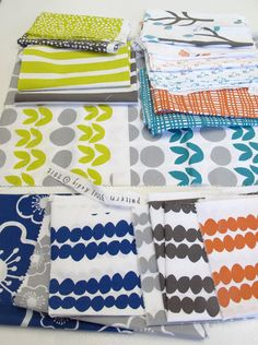 Bella fabrics by Lotta Jansdotter available August 2012 ... I can't wait until these come out ... they greys and yellows look amazing