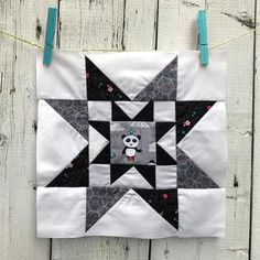 Meet the Makers Block – Riley Blake Designs Fabric Art, Fabric Crafts, Fabric Design, Little Panda, Panda Love, Pattern Blocks, Quilt Patterns, Block Patterns, Flying Geese