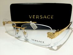 New Authentic Versace Mod 1203B 1002 Gold/Havana 51mm Frames Eyeglasses RX Italy…