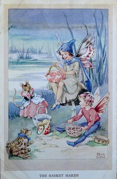 March House Books Blog Do You believe in fairies? Vintage Postcards from my collection. Rene Cloke.