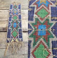 vintage c. 1920s Native American Indian loomed beadwork fragment by MouseTrapVintage, $24.00
