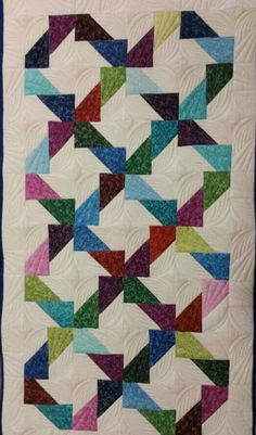 T-Scrappy Split Rectangles by Linda Rotz Miller Quilts & Quilt Tops i want to do this! might have to do more investigating on this one Résultat d'images pour Fun Patch Quilt Pattern Tutorial T-Scrappy Split Rectangles finally a good way to use scraps U Strip Quilts, Patch Quilt, Scrappy Quilts, Mini Quilts, Half Square Triangle Quilts Pattern, Square Quilt, Machine Quilting Designs, Quilting Projects, Quilting Ideas