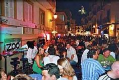 People out having a Night Out in Ibiza Town Ibiza Spain