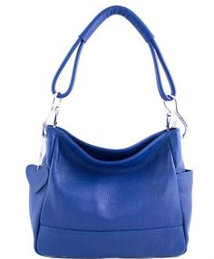 6a7e76c17266 Etasico Shelly Leather Designer Handbags Made in Italy Cobalt Blue Hobo Bags