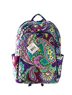 Vera Bradley Laptop Backpack Updated Version with Solid Color Interiors Heather with Purple Interiors >>> Details can be found by clicking on the image.