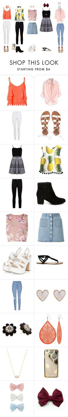 """""""Cute first week of school outfits"""" by niaprincess ❤ liked on Polyvore featuring Glamorous, Topshop, Billabong, FRACOMINA, Paige Denim, Steve Madden, Miss Selfridge, Sole Society, New Look and Kate Spade"""