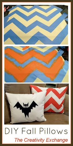 DIY Fall Pillows Using Screen Paint {The Creativity Exchange}