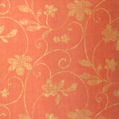 Kohala #wallpaper in #coral from the Texture Resource 3 collection. #Thibaut