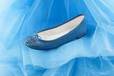 Cinderella 'Dream Ball' collection - Ballerina Cendrillon Blue Celeste Goatskin suede by Repetto X Disney