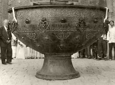 Taykazan (Kazakh: tay – colt, kazan – large cooking pot). Sacred cauldron Taykazan the most valuable exhibit of the mausoleum of Ahmed Yasawi in Turkestan.