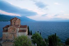 Lake Ohrid between Macedonia and Albania. One of the oldest, and one of the deepest lakes in whole Europe.