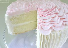 Delicious Scratch White Cake Recipe!! You will love this moist, flavorful, & versatile recipe. YUM! MyCakeSchool.com Online Cake Decorating Tutorials & Recipes.
