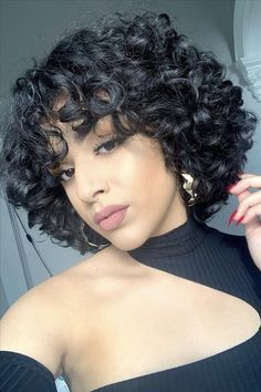 curly hair for girls with less hair, Fresh short curly hair, light brown curly haircuts, short curly hair design for girls, trendy short hairstyle 2020 Short Curly Cuts, Short Curly Hair Black, Curly Hair Cuts, Curly Hair Styles, Natural Hair Styles, Curly Pixie Hairstyles, Short Curly Haircuts, Cute Hairstyles For Short Hair, Curly Hair Designs