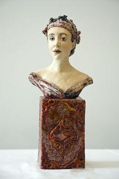 Gelske Koopmans - Dabidadag 2008 Ceramic Figures, Clay Figures, Paper Clay Art, Clay Faces, Paperclay, Ceramic Clay, Pottery Art, Female Art, Sculpture Art