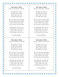 Here are some fun songs to sing with your students when studying space. FREEBIE download If you enjoy songs and learning. I have created a full week's worth of curriculum that focuses on our solar system. You can find this space poem by clicking HERE. We love learning about space and our solar system. Here...Read More »